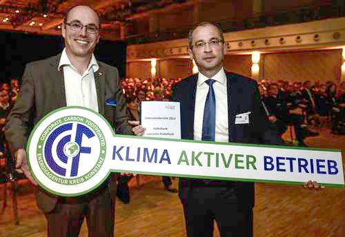 Emissionsbericht Volksbank, Klima aktiver Betrieb
