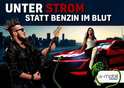 """Mehr Emotionen - statt Emissionen! Werbekampagne """"e-mobil Kreis Konstanz elektrisiert!"""""""